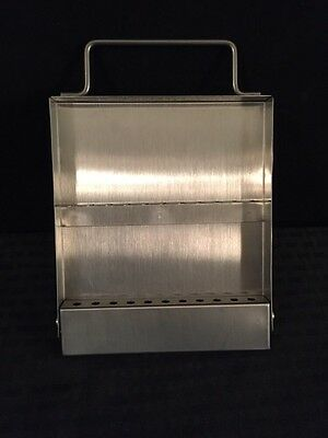 Stainless Steel Ear House Storage Case Holds 11 Instruments Great Condition