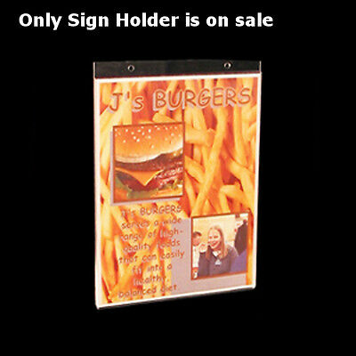 """Count of 10 New Retail Clear Acrylic Vertical Wall Mount Sign Holder 8""""w x 10""""H"""