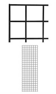 Count of 2 New Retails Black Wire Grid Wall Panel 2' x 6'