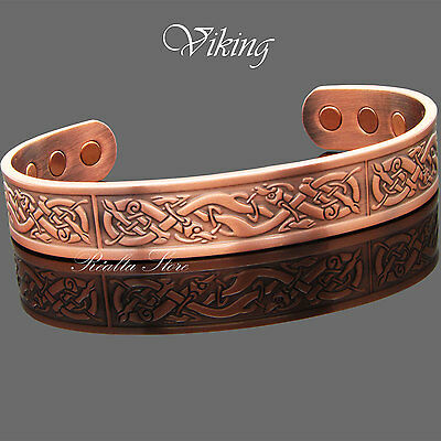 VIKING - Solid Copper Bracelet Bangle Magnetic Therapy Joint/Muscle Pain Relief