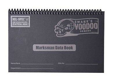 New Authentic Voodoo Tactical Marksman Hardcover Spiral Data Book 12-820800000