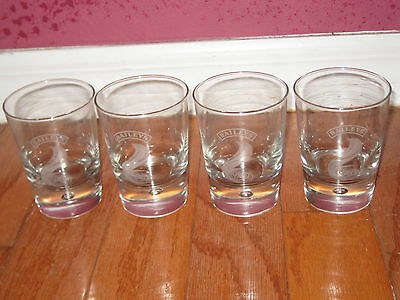 Vintage Set of 4 BAILEYS Irish Cream Glasses / Tumblers - Bar Collectible VTG