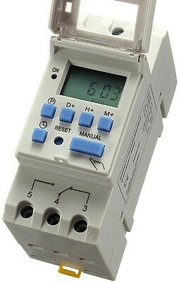 Programmable Digital LCD Timer Relay Power Electrical Time Switch DC 12V 16A