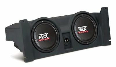 "MTX ThunderForm Jeep Wrangler TJ Custom Subwoofer Enclosure w 2 10"" Subs"