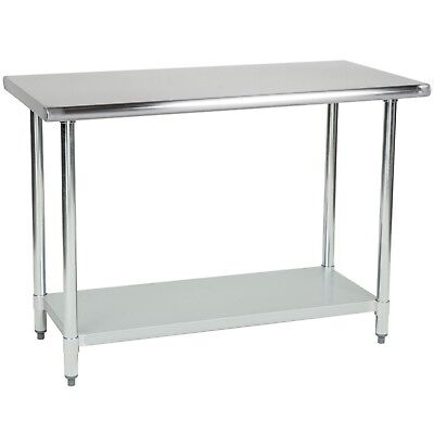 Commercial Stainless Steel Work Table - 18 x 36 - Heavy Duty L&J