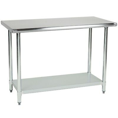 Commercial Stainless Steel Work Table - 14 x 48 - Heavy Duty L&J
