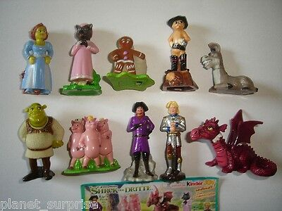 Shrek 3 The Third 2007 Kinder Surprise Figures Set -  Figurines Collectibles