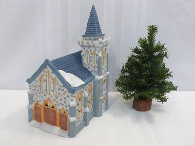 1990 DICKENSVILLE Collectables REX & LEE Porcelain Lighted CHURCH House IOB