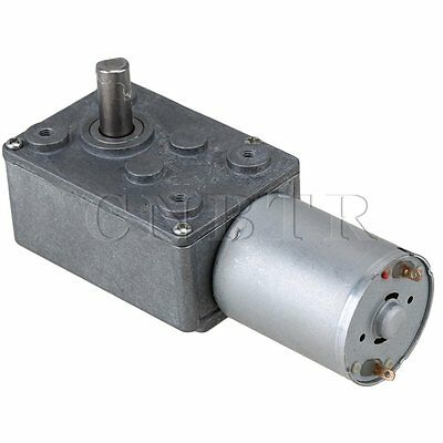 High Torque Turbo Worm Gear Box Geared Electric Drive Motor for DIY 12V 154rpm