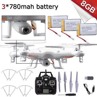 3 battery X5C-1 RTF UFO 2.4G 6-Axis Gyro RC Quadcopter Drone with 0.3 HD Camera