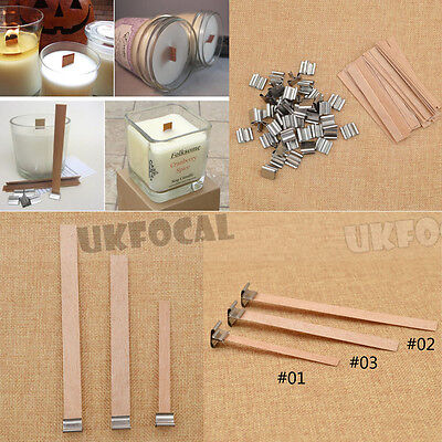50Pcs Wooden Wick Candle Core DIY Candles Making Supplies Favour 8mm 12.5mm 13mm