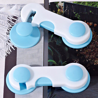 Adhesive Baby Child Kids Safety Cabinet Door Fridge Drawer Cupboard Locks 20Pcs