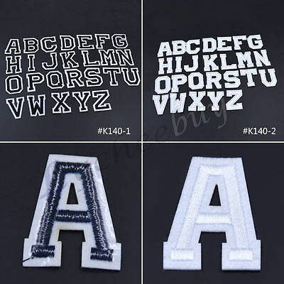 26 Letters A-Z Embroidered Iron On Patches Applique DIY Sewing For Clothes New