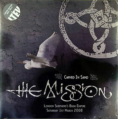 """THE MISSION Carved In Sand 12"""" LIMITED EDITION GREY VINYL 2LP - LETV267LP"""
