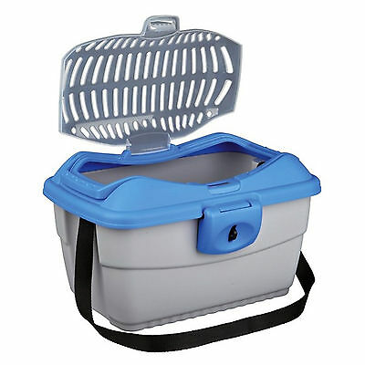 Trixie Mini-Capri Transport Box, 40 × 22 × 30 Cm, Light Grey/blue TX39802