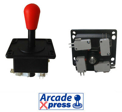 Joystick Americano Arcade style red for MAME and Arcade Game Cabinet 4/8 way