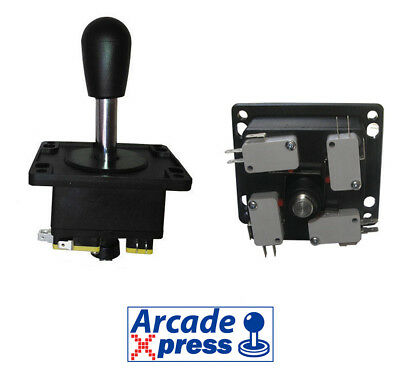Arcade Joystick Spanish style black for MAME and Arcade Game Cabinet 4/8 way