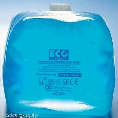 SKINTACT ECO SuperGel Ultrasound Gel 5 Liter with .26 Liter Bottle - Case of 4