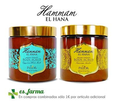 Pielor Hammam El Hana Argan Therapy Body Scrub 500Ml White Musk Tunisian Amber