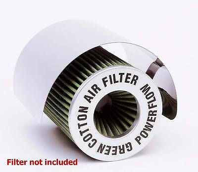 Large Universal Stainless Steel Air Filter Cone Filter Induction Kit Heat Shield