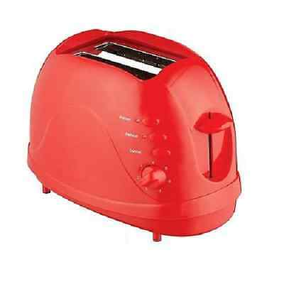 Unibos 2 Slice Toaster 700 Watt Reaheat Defrost Variable Browning Control - Red