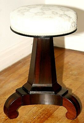 Piano stool, Classical Empire, circa 1830, rsewood, dressing or music stool