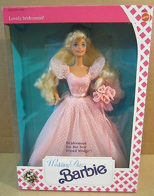 Lovely Bridesmaid Barbie Doll Wedding Day For Her Best Friend Midge NEW Box Wear