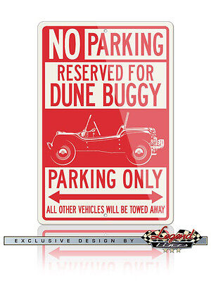1964 Meyer Manx VW Dune Buggy Reserved Parking Only 12x18 Aluminum Sign