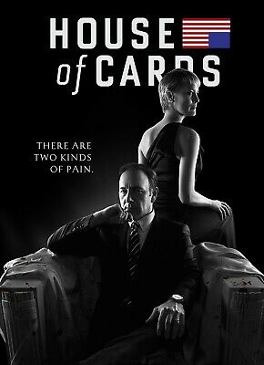 House Of Cards Tv Show Glossy Wall Art Poster Print (A1 - A5 Sizes Available)