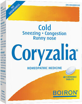 Boiron Coryzalia® 40 Tabs- Natural Homeopathic Relief For Common Cold, Rhinitis