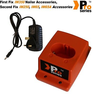 Pro Series Wall Mains Charger + Pro Series Charger Base - for Paslode nailers