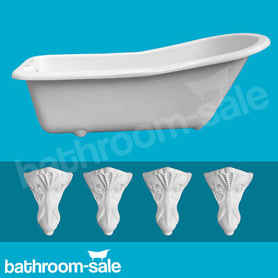 Salisbury Slipper Roll Top Bath 1520 with Traditional White Resin Feet RRP £549