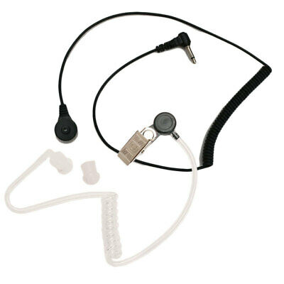 3.5mm Microphone Plug Acoustic Air Tube Listen Only Earpiece Headset For Radio