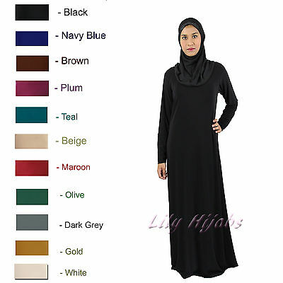 Plain Slim Fitted Jersey Abaya /Long Dress @Bargain Price