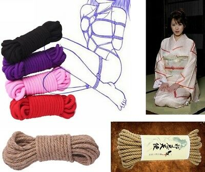 Colorful Cotton Polyester Hemp Dungeon Restraint Rope Black Red Purple Pink Rope