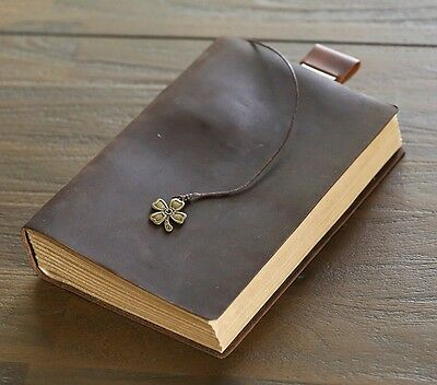 Vintage Handmade Leather Diary/Sketchbook/Thick Blank Pages Notebook/Journal