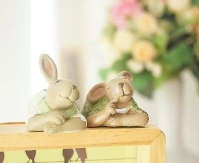 Styling Home Decoration/Resin Green Cute Rabbit lies on every corner