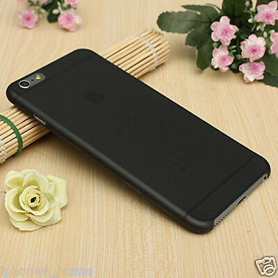 For iPhone 6/6s Transparent Black Matte Frosted Ultra Thin Shell Case Cover