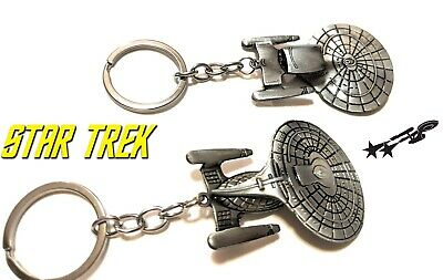 STAR TREK ENTERPRISE 1701D Movie Pewter Key chain cosplay collectible spock kirk