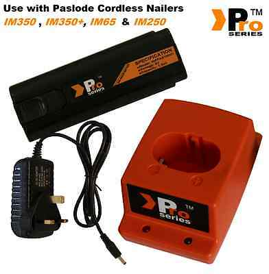 Paslode IM65A Replacement Pro Series charger set(1 x battery/mains/charger base)
