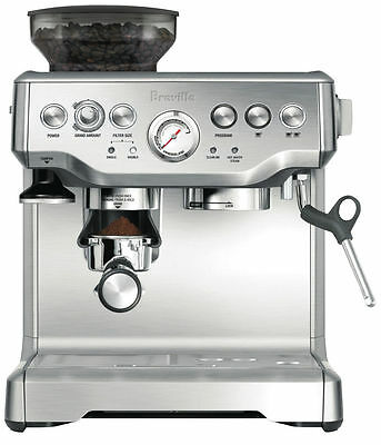 Breville The Barista Express Cappuccino Espresso Coffee Machine Maker BES870 NEW