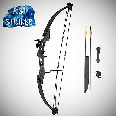 Striker Archery Light Adult Youth Black Compound Bow and Arrows Set Kit Package