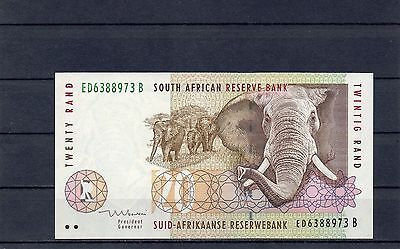 SOUTH AFRICA 20 Rand UNC 1999 p-124b