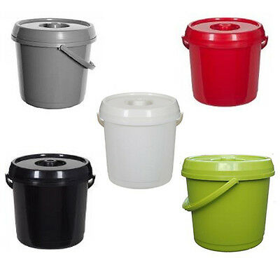 14L Plastic Nappy Bucket With Lid Handle 3 Gallon Baby Bin Storage Container