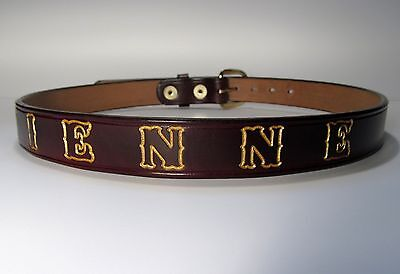 Children's Leather Belt Personalized with a Name, Phrase, Team, School,  Etc