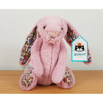 NEW Jellycat Blossom Bashful Tulip Bunny Small 18cm Pink Floral Jelly Cat Rabbit