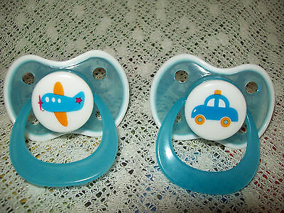 Blue Airplane  Or   Blue Car  Magnetic Dummy  4 / Doll