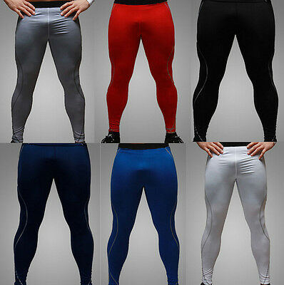 Hot Mens Tight Base Layer Pants Long Leggings GYM Compression Under Trousers New