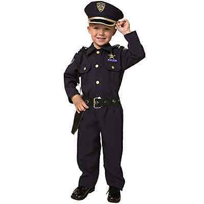 Policeman Deluxe Costume Set Child Kid Boy Disguise Cosplay Halloween, Small 4-6