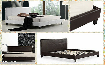 New Single/Double/Queen/King PU Leather upholstered Bed Frame & Bed Head